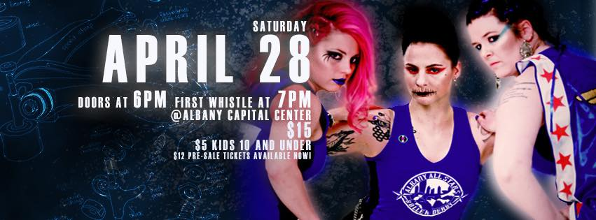 - Albany All Stars season opener! Win prizes from That Store in the raffle!  THE WAIT IS ALMOST OVER - Albany All Stars 2018 Season starts in just a few weeks! Let's get this party Albany All Stars Roller Derby takes the track against Suburbia Roller Derby Suburban Brawl.Doors will open at 6:00 pm, and the game will start at 7:00 pm. Tickets: $12 pre-sales; Kids 10 & under are just $5. Adult tickets will be $15 the day of the event so make sure to buy yours in advance. OR BETTER YET- GET SEASON PASSES- save up to $55! Check out the details and purchase online at https://squareup.com/store/albany-all-stars-roller-derbySo what will you find at the Bout besides some awesome fast action roller derby? The Albany Cap Center will have concessions by Mazzone Hospitality...and most importantly, a bar! 🙌 There will be music by DJ Lady Verse, merch for sale, an entertaining halftime show, and our fan favorites; the raffle and the star-toss. A portion of the proceeds will go to Peppertree Rescue. After the Bout stick around of the MVP awards- this month's local artist is our very own Alyssa Lupinski!Don't hesitate-mark yourself as going and stay tuned here for more game-day details!For anyone worried about parking? There is some street parking, but better yet the ACC has its own parking garage. Visit the ACC's website for more info on garage parking: http://www.albanycapitalcenter.com/attend/Parking-_102_pg.htm. See you there!! #bettertogether