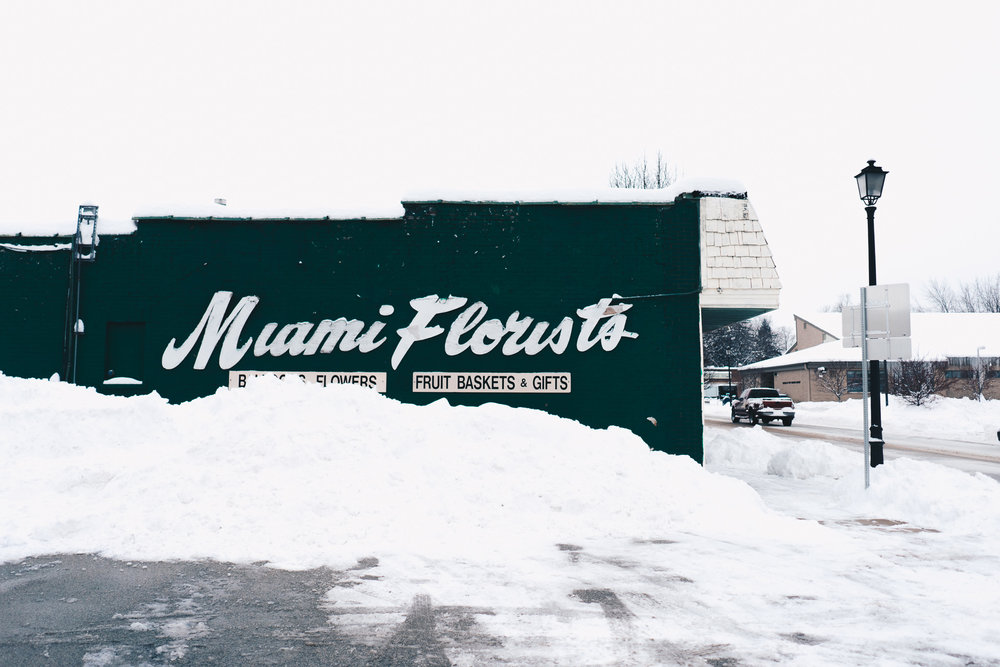 Miami Village No. 1   A view of Miami Florists' North face featured in our February 2018 story  Miami Village Snowed Out .