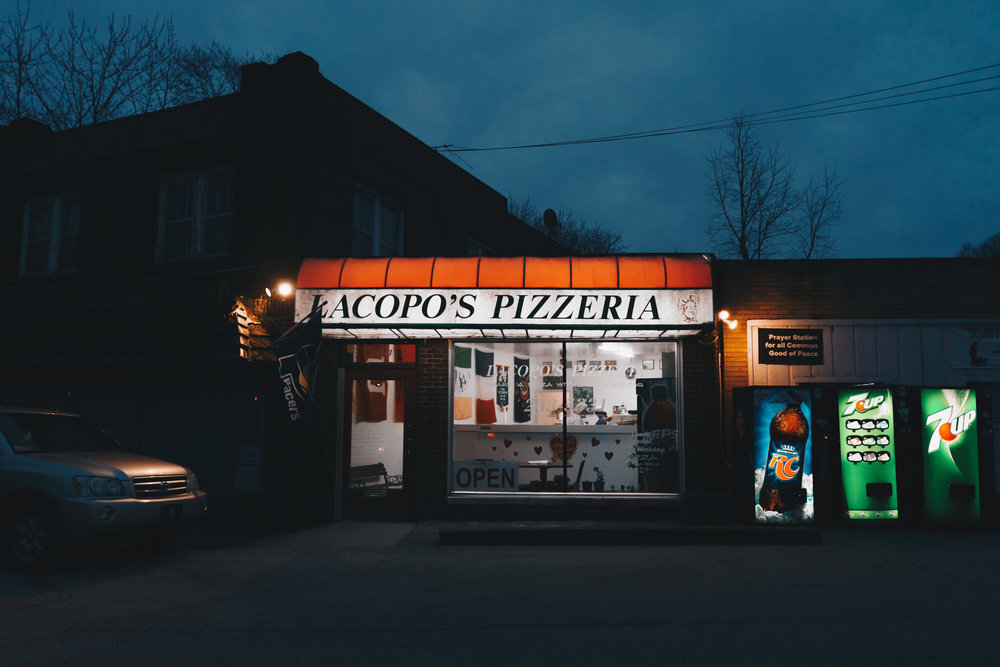 Lacopo's No. 2   An early evening photograph of the West End storefront of Lacopo's Pizzeria featured in our March 2018 story  Lacopo's Pizzeria .