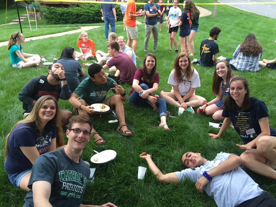 Whether you're attending Mason, home for the summer from another college, or a graduating high school senior, join us for a BBQ at the Bellarmine Chapel!  Every Thursday in June and July, our student campus ministers will be organizing events for college students in the area. See the latest events on Facebook  @GMUCCMcollegesummers .