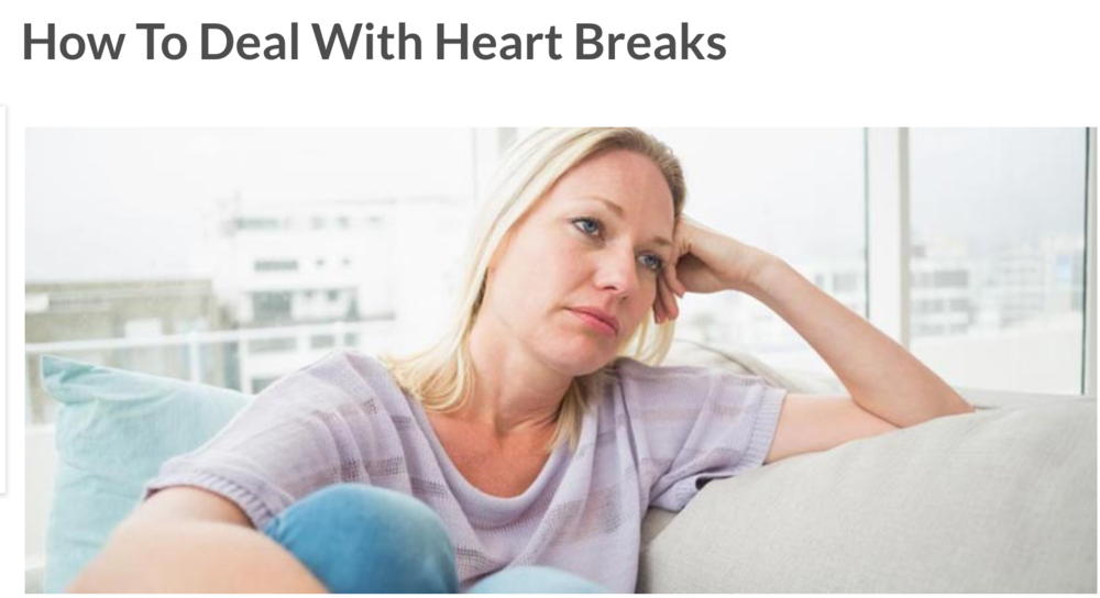 Click on the picture to read the article on HEARTBREAK.