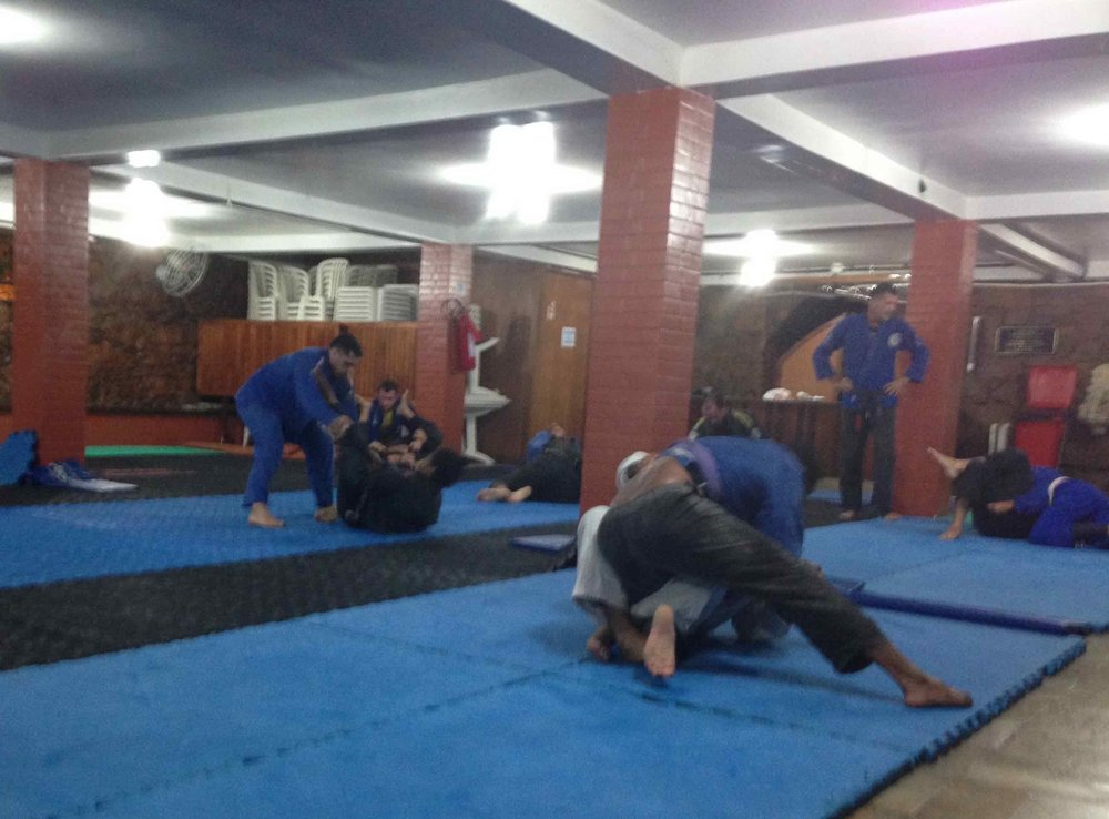 Rio, church basement jiu-jitsu school