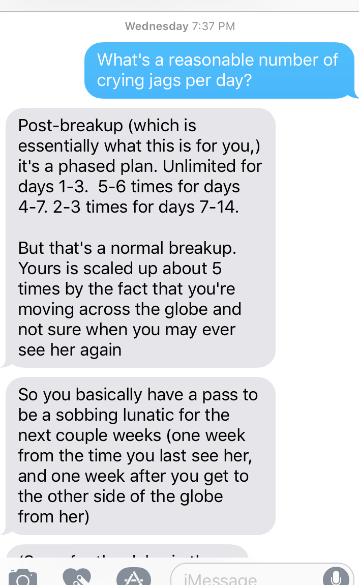 insight from my Fuckable Friend--I recommend everyone have one.
