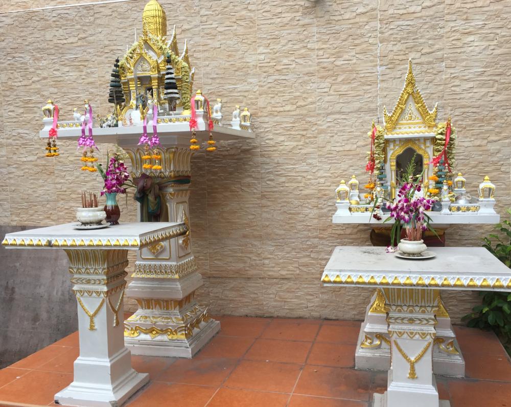 Sidewalk shrine