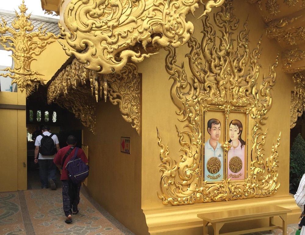 golden bathrooms