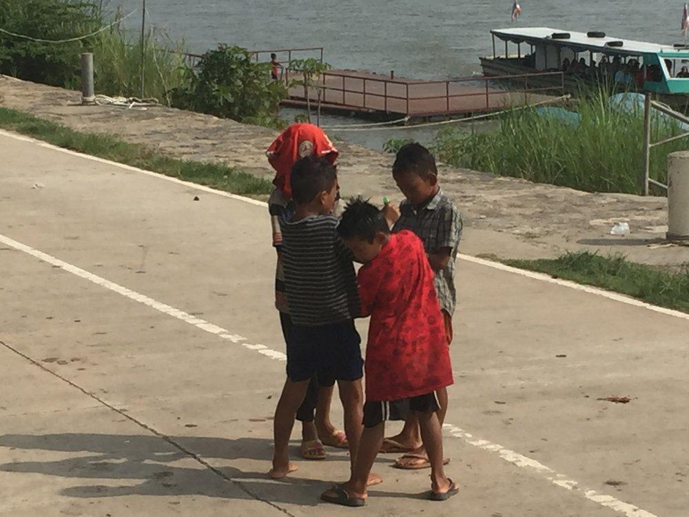 Laotian children playing
