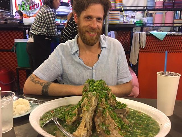 You like it spicy? I know I do.  Slow-cooked pork, Rot Fai night market, Bangkok