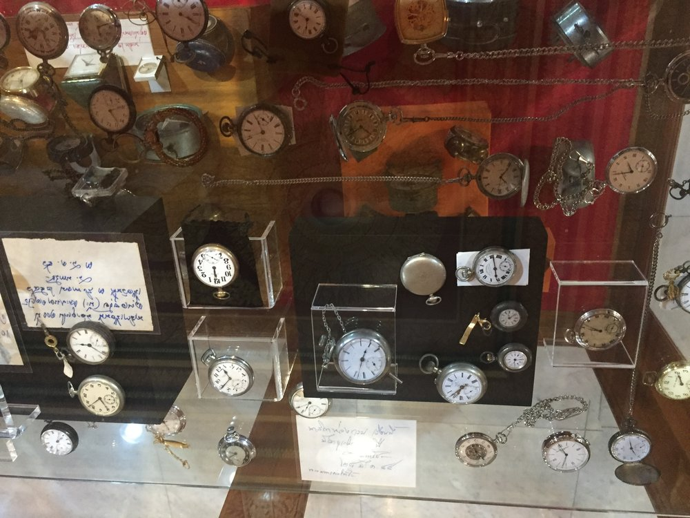 Thais seem to love random collections of things. And I like watches, so... (at Wat Paknam Bhasi Charoen)