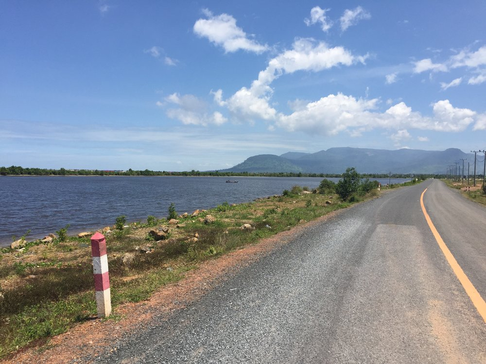 Kampot: open road and sea