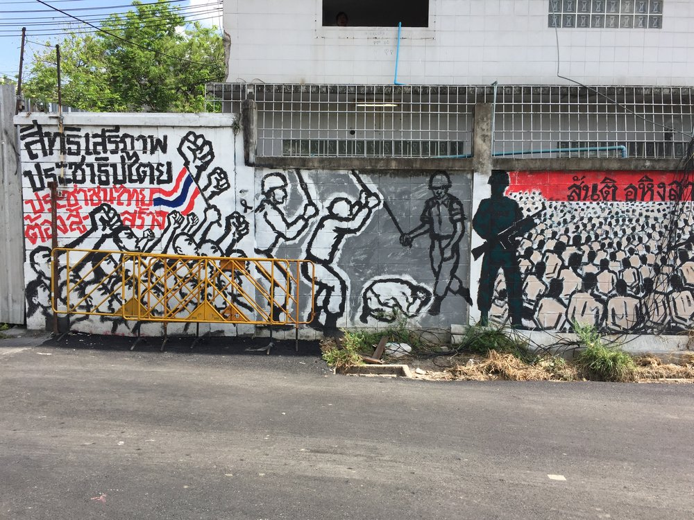 Revolutionary mural, Bangkok