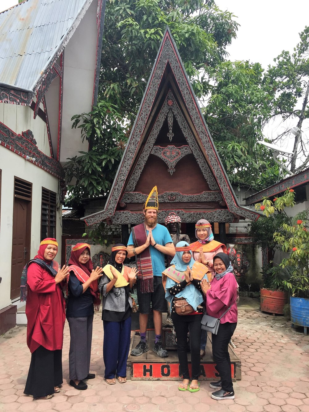celebrating  the Batak people  in traditional clothing, Lake Toba