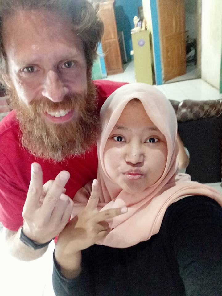 Semarang:  as mentioned before , my Grab driver brought me to his home and introduced me to his family. This is his lovely and engaging daughter Fauzia.