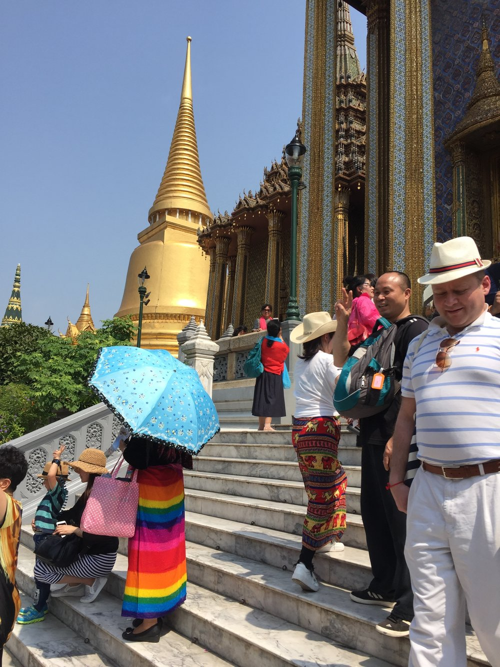 Tourists blocking your path, Wat Phra Kaew