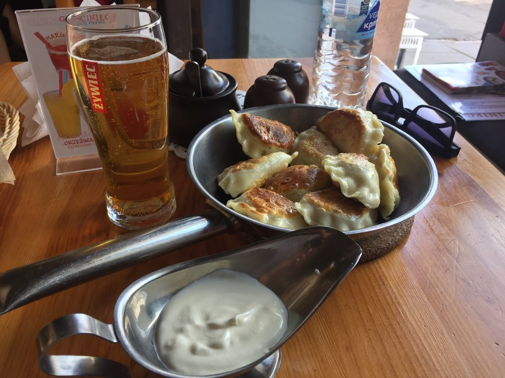 Gościniec restaurant, Warsaw: nine pierogis was the minimum order