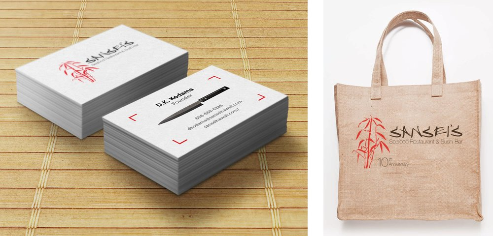 Sansei Business Card and Bag
