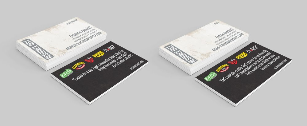Resource Distribution Business Cards