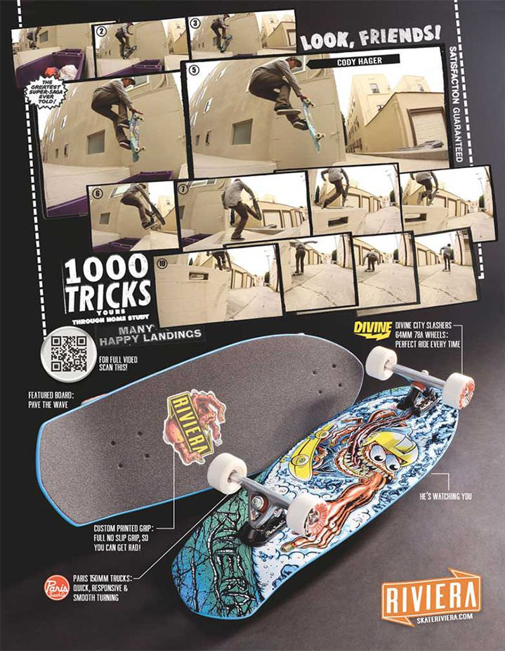 Riviera Skateboards Ads Look, Friends! 01