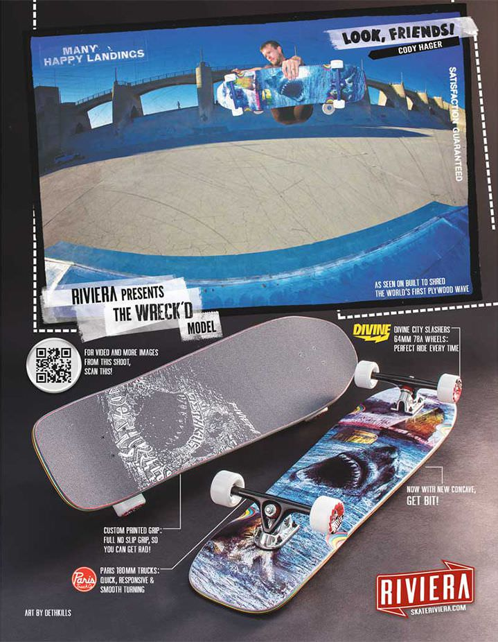 Riviera Skateboards Ads Look, Friends! 02
