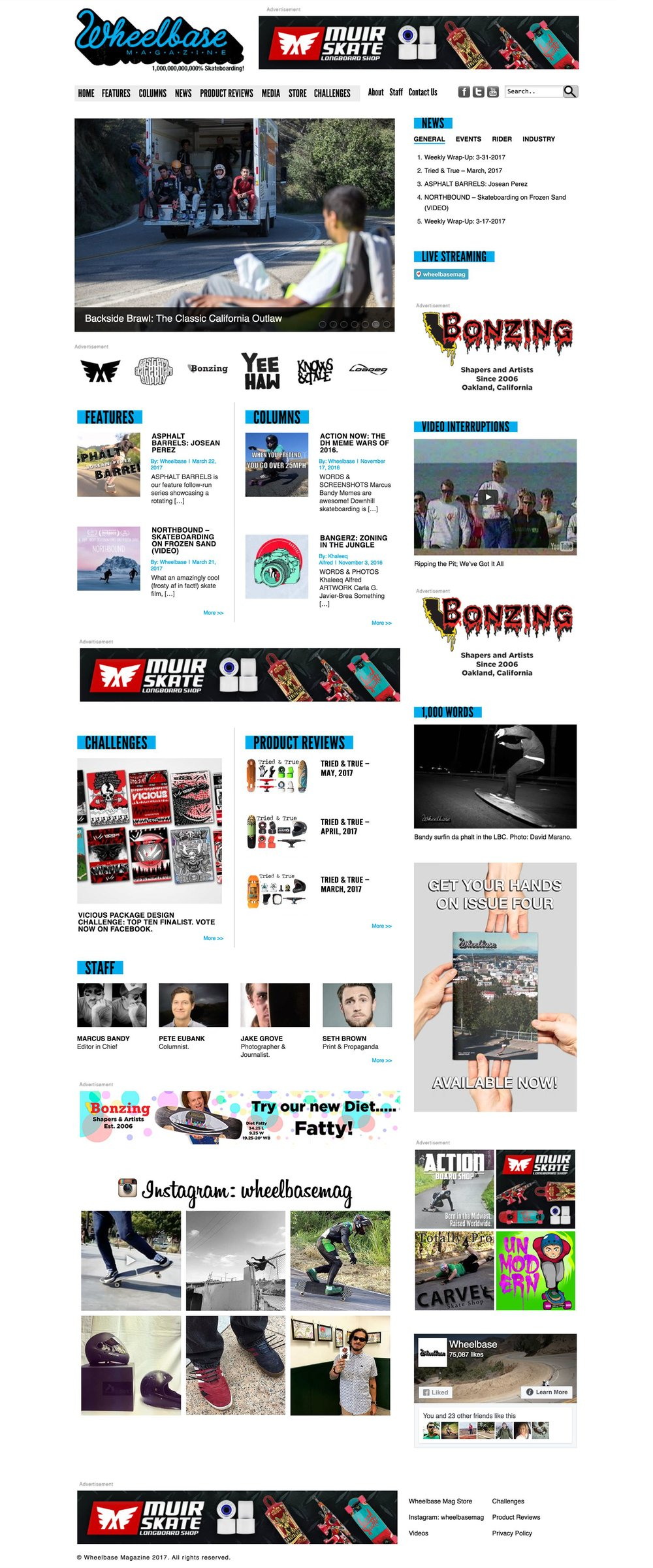 Wheelbase Magazine Homepage Desktop