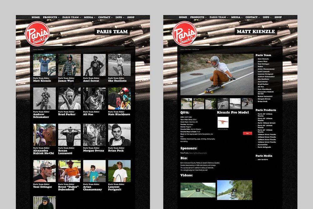 Paris Truck Co. Web Art Direction & Design + Product Photography