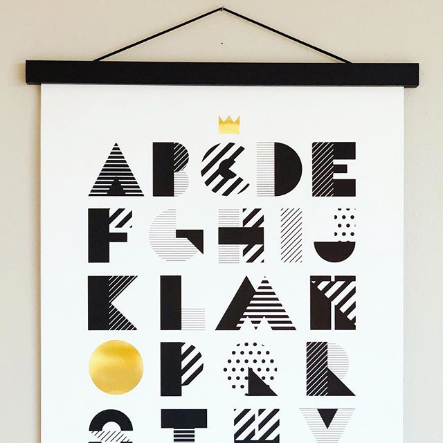 More hanging options... match our B&W ABC poster with a simple black poster hanger.  Or one of our colorful Dala prints with the hanger in oak. Limited stock, come grab yours tomorrow at @sweasanfrancisco Christmas fair  Sat Dec 1st, 9-4, 1111 Gough Street, SF #swedishyuletide #sweachristmasfair