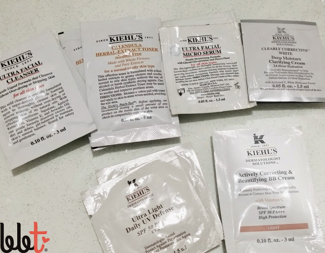 Kiehls Sachets (Ultra Facial, for dry skin)