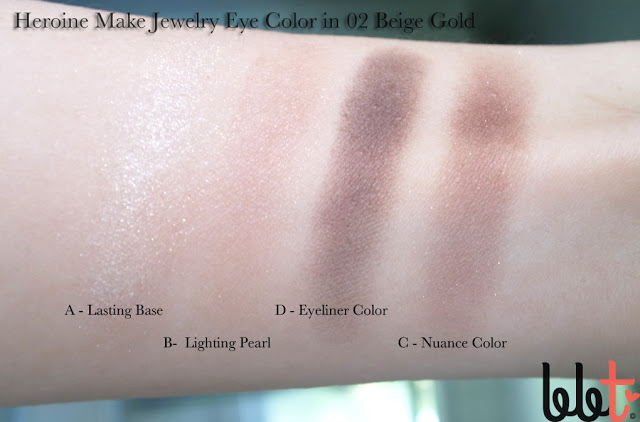 heroine make jewelry eye color in 02 beige gold swatches