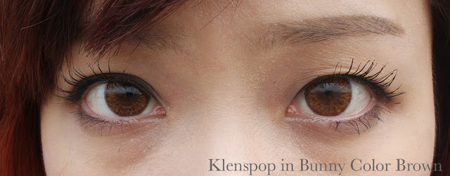 klenspop circle lens in bunny color brown review closeup