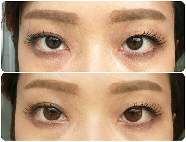 klenspop circle lens in bunny color brown review before after