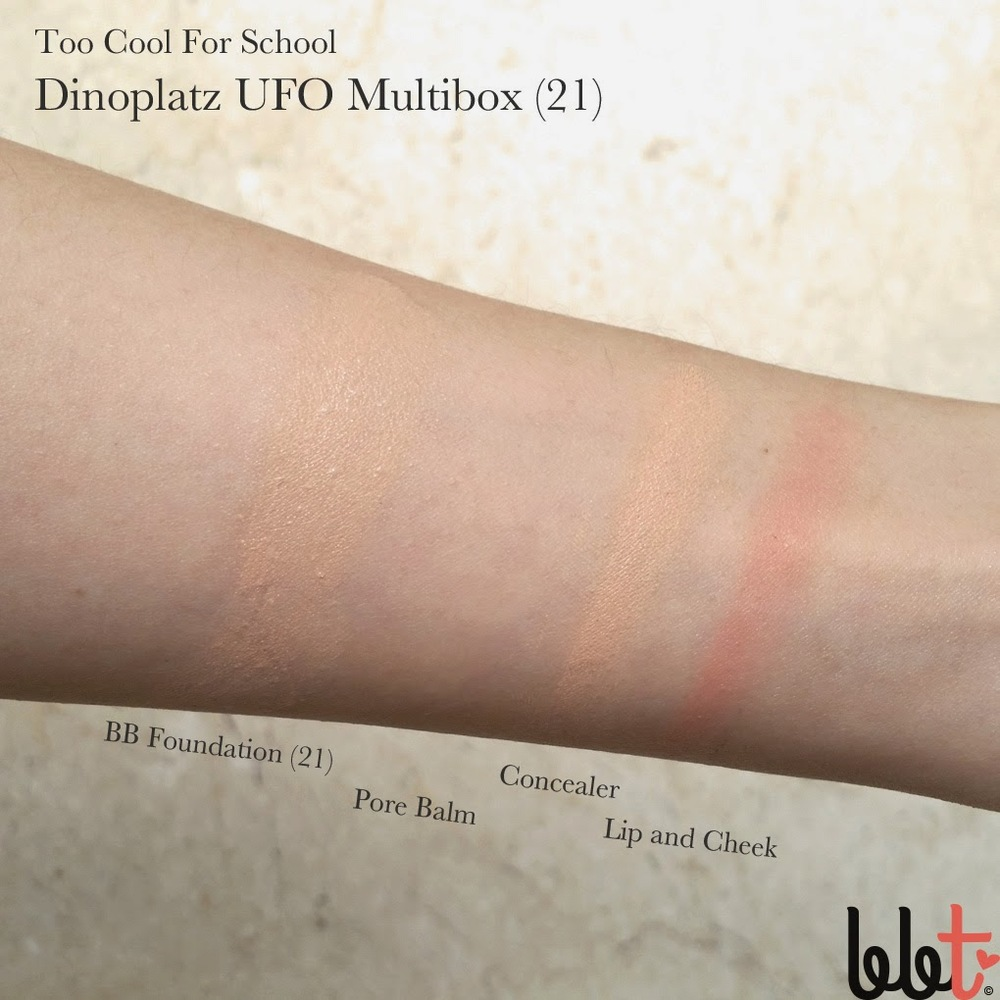 too cool for school dinoplatz ufo multibox review swatches impressions