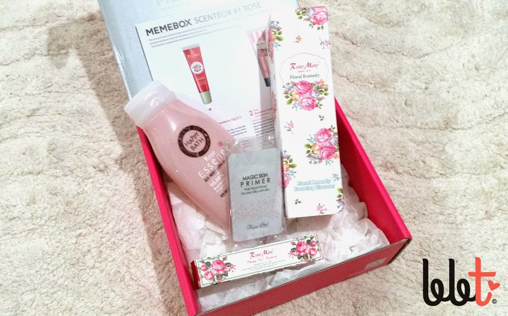 memebox scentbox 1 rose unboxing review