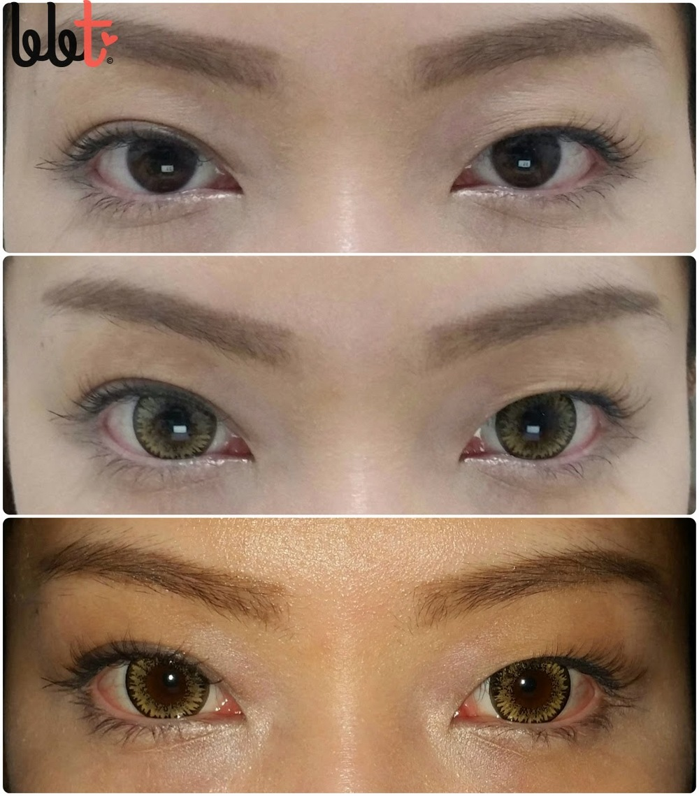 see clear circle lens in warm brown review