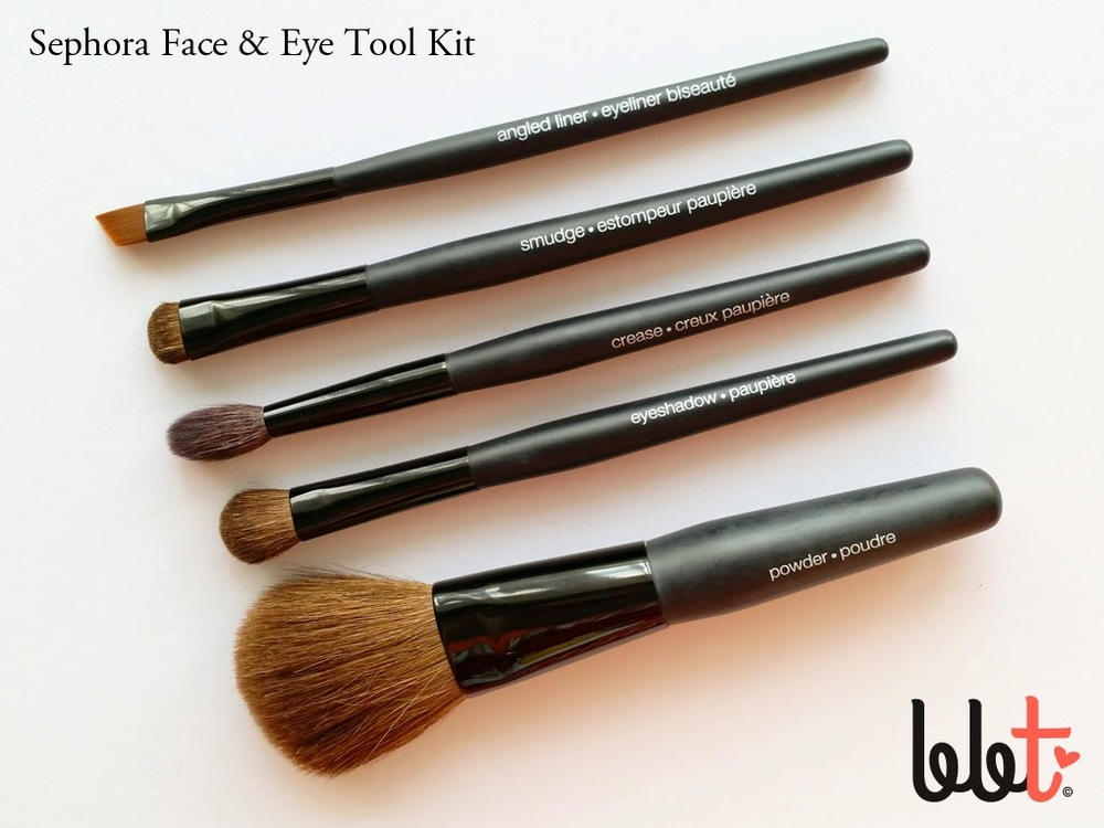 sephora face and eye travel tool kit brush set review