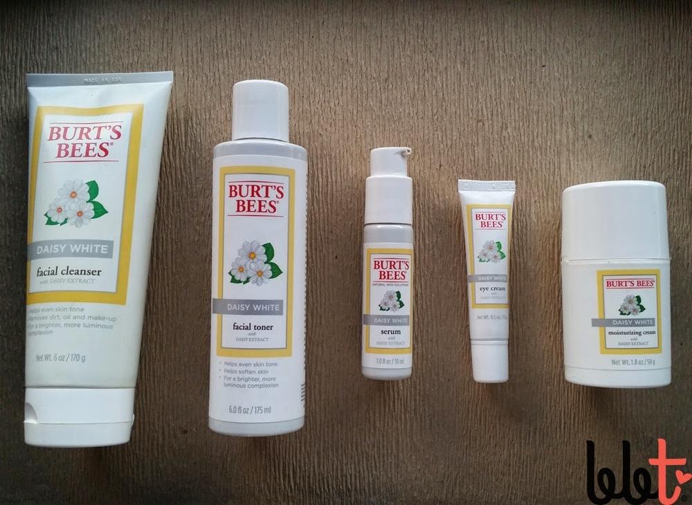 burt's bees daisy white skincare review