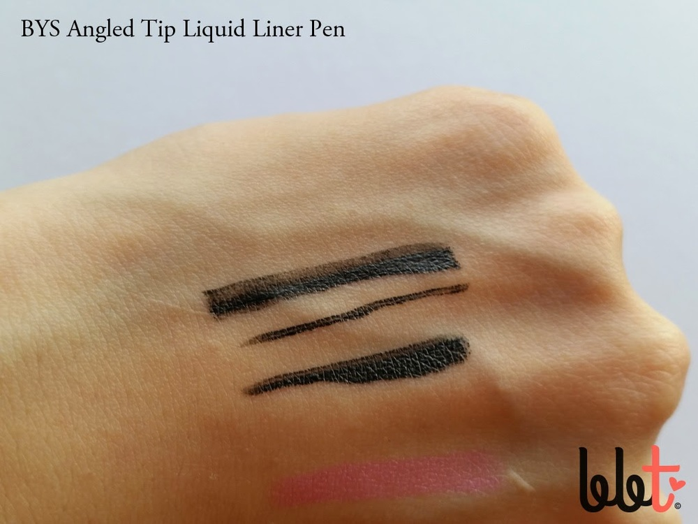bys angled tip liquid liner pen swatch