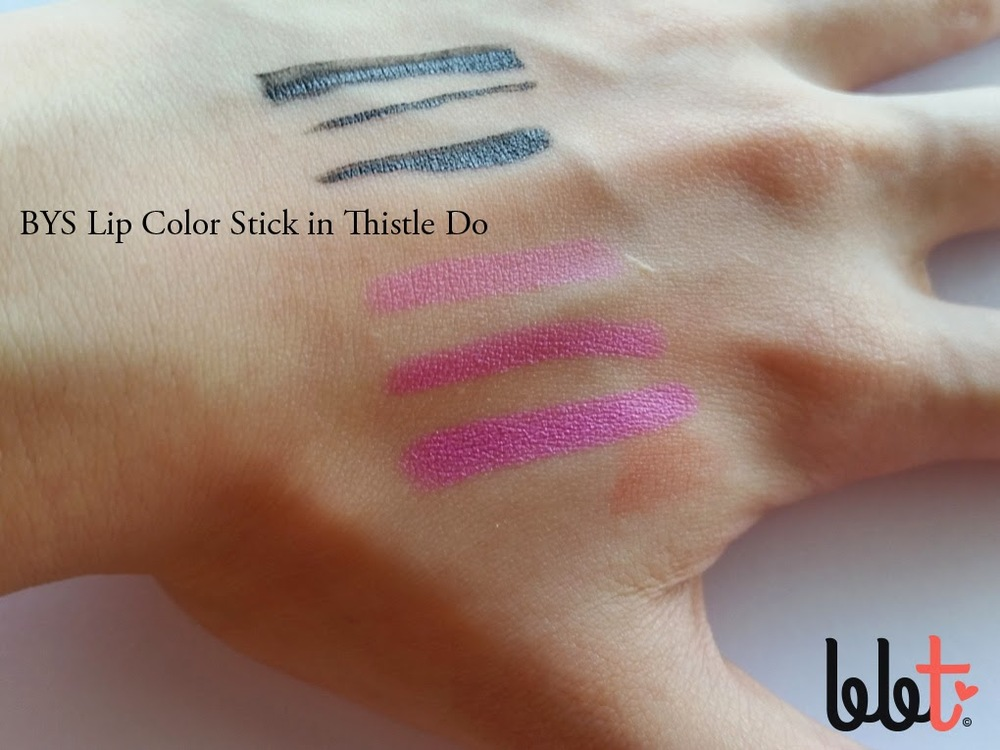 bys lip color stick in thistle do swatch