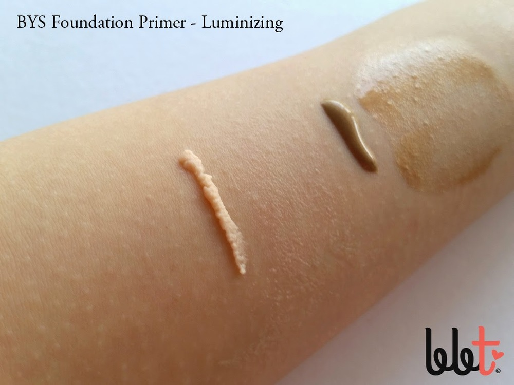 bys luminizing foundation primer swatch