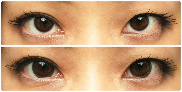 before and after ttop circle lenses model brown