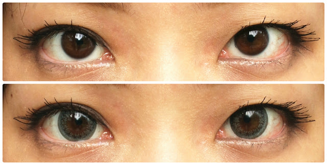 before and after ttop circle lens model gray
