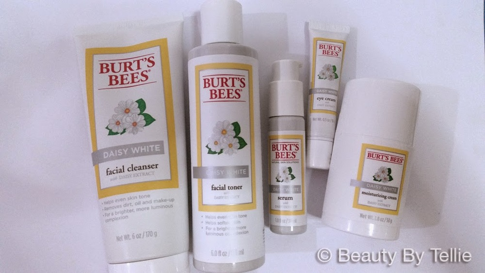 burt's bees daisy white skincare routine