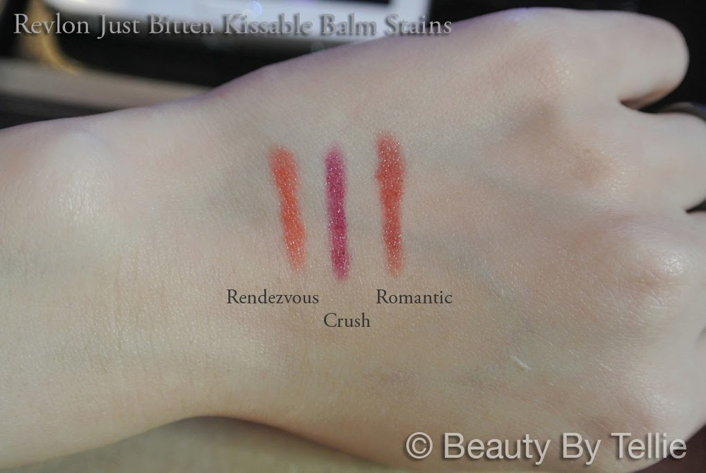 Revlon Just Bitten Kissable Balm Stain skin swatches