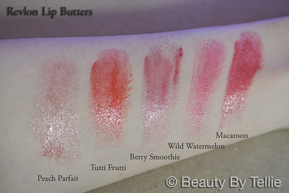 Revlon Lip Butter skin swatches