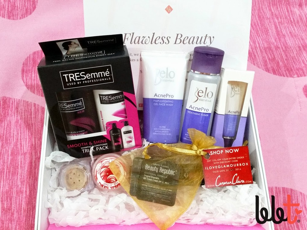Glamourbox September 2014 Flawless Beauty unboxing