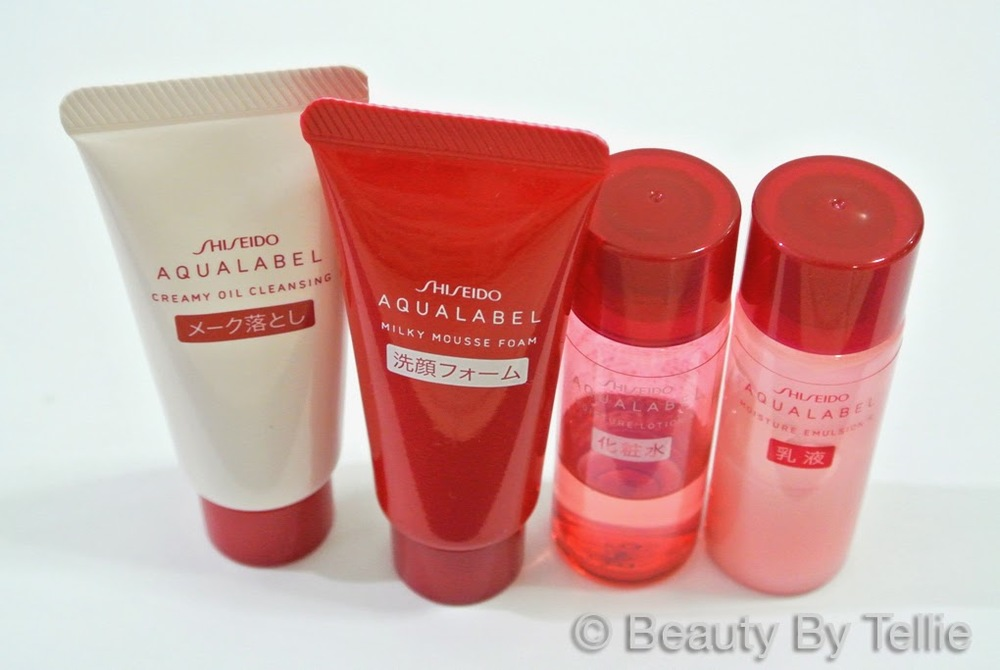 Shiseido AquaLabel Travel Set (Red) after one month
