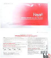 hayan wrinkle repair mask sheet for woman