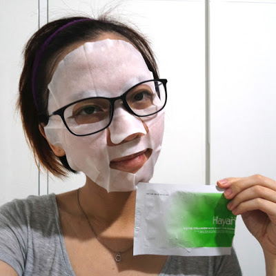 wearing hayan sheet mask phyto collagen