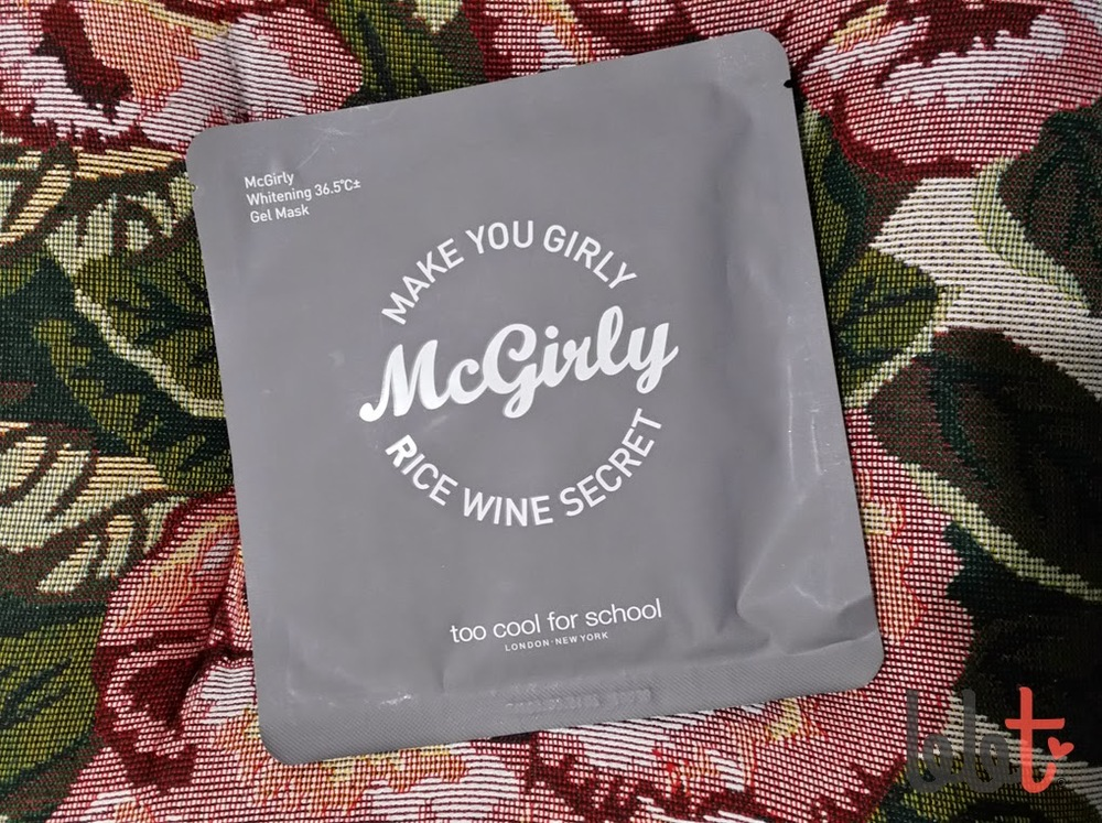 too cool for school mc girly rice wine gel mask review
