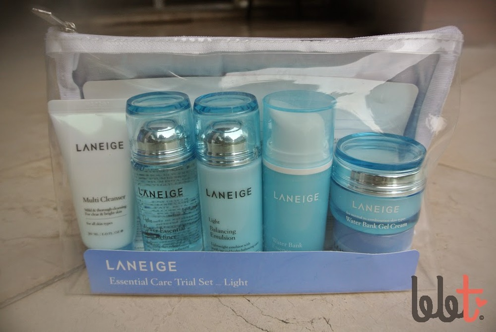review laneige essential care trial set light