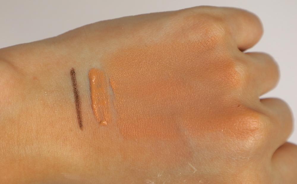palladio waterproof eyeliner, palladio powder finish foundation in vanilla