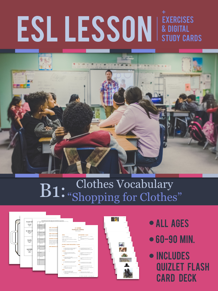 "B1: ""Shopping for Clothes"" Lesson"